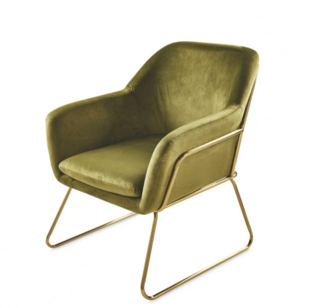 Barry And District News: Metal Frame Olive Arm Chair. (Aldi)