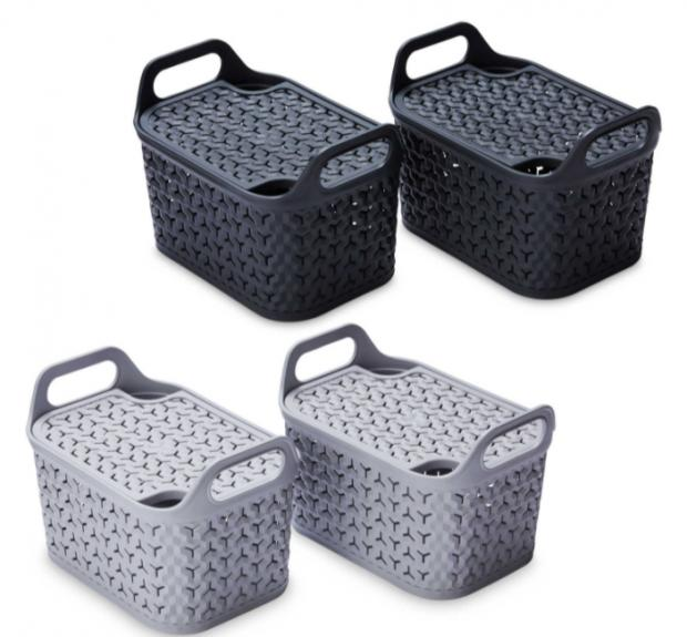 Barry And District News: Strata Lidded Baskets 2 Pack. (Aldi)