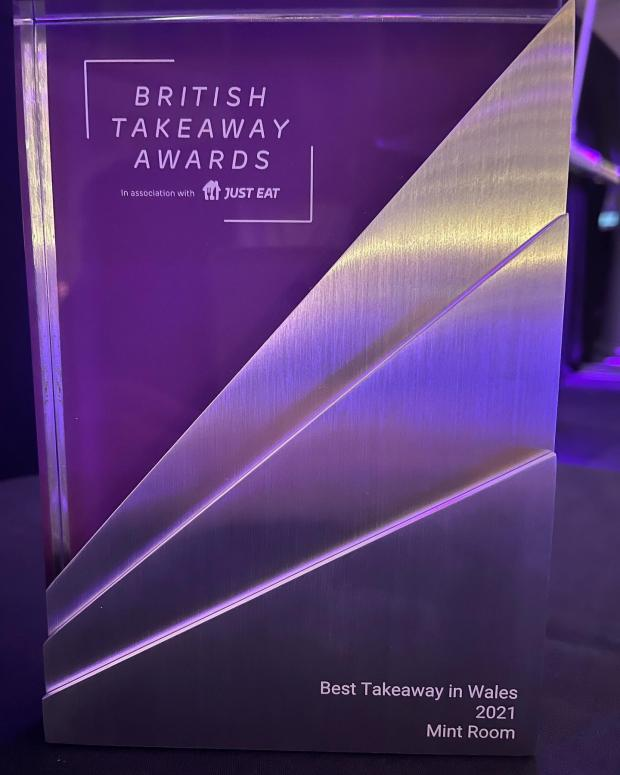 Barry And District News: Mint Room has earned Best Takeaway in Wales in British Takeaway Awards 2021