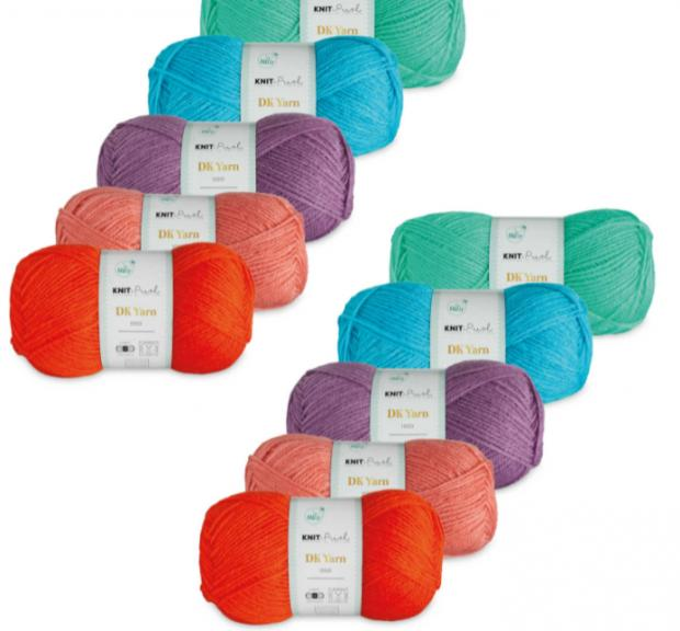 Barry And District News: Brights Double Knit Yarn Bundle. (Aldi)