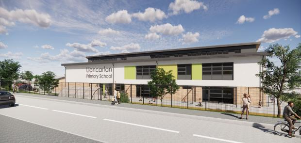 Barry And District News: The new school is currently being built in Rhoose. Picture: Vale of Glamorgan Council