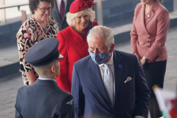 Barry And District News: The Prince of Wales and the Duchess of Cornwall arrive at the Senedd. Picture: Jacob King/PA Wire