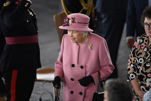 Barry And District News: The Queen meets guests inside the Senedd building. Picture: Huw Evans Picture Agency
