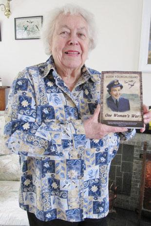 AUTHOR: Eileen Younghusband with her new book 'One Woman's War'.