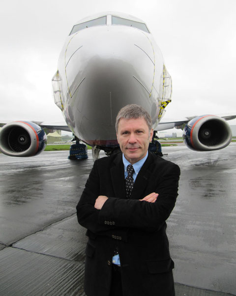 TAKE OFF: Bruce Dickinson's new aircraft maintenance business is based at St Athan.