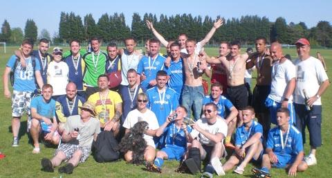 MATCH-WINNING DAY: Family and friends of David 'Dinxsy' Coombs remember him in true football style.