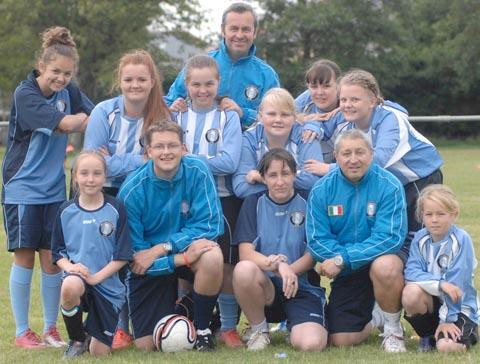 A new football club for girls has launched in the Vale of Glamorgan