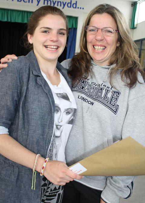 CELEBRATION: Lauren and mum Sarah Duddridge are delighted with the A *, A, B, and 6 Cs that accompany her travel and tourism qualification.