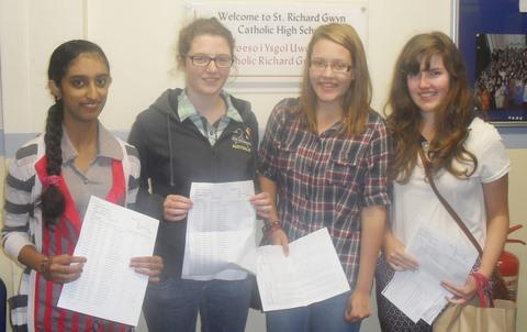 HIGH ACHIEVERS: (from left) Theresia James, Jessica Caterson, Katie Collins and Rosie Ashman.