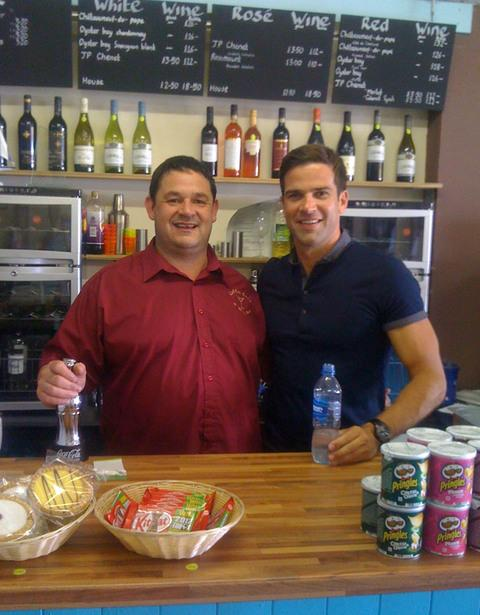 HERE'S ONE I MADE EARLIER: Peter Lee and Gethin Jones raise the bar for customer service.