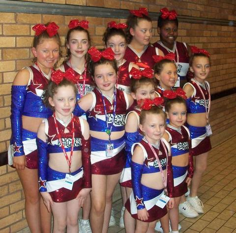 TEAM: Cougar All Stars welcome youngsters of all abilities to their cheerleading classes.