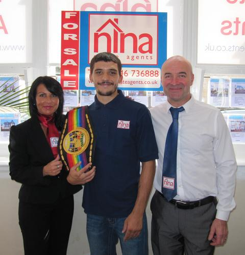 SPONSORSHIP: Lee Selby with Nina and Rob Chivers.
