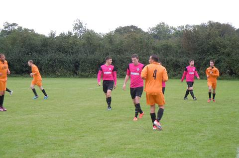COLCOT TRIUMPH: AFC Colcot (pink shirts) emerged victorious in Saturday's Vale of Glamorgan Soccer League (Premier Division) clash with Castle FC. Both teams went into the match with 100 per cent records.