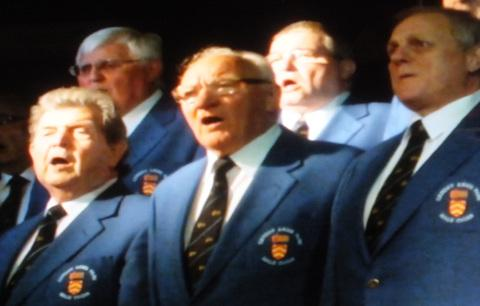 SINGING: Cardiff Arms Park Male Voice Choir performed at the concert.