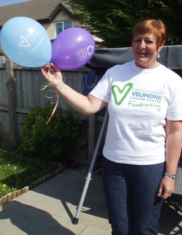 IN MEMORY: Wendy Jordan pictured last year - her supporters are raising charity funds in the same energetic way she did.