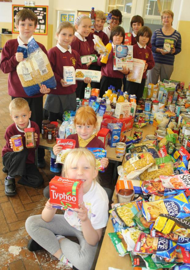 GLORIOUS FOOD: Youngsters provide food for thought.