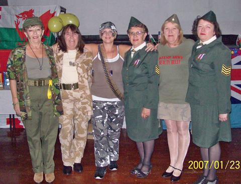 ARMED FORCES: The charity line dance was in aid of the 'Healing the Wounds' charity.
