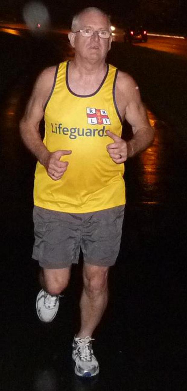 GROUND AND WATER: Gerry Adams is running to raise funds for the RNLI Barry Dock lifeboat pontoon.
