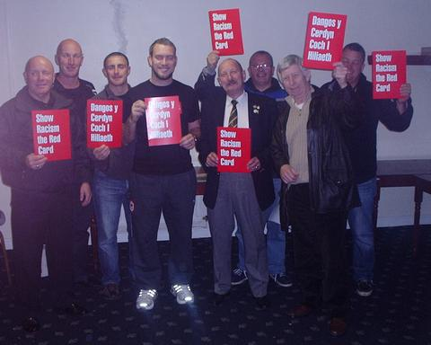 Members of VoGRS with Show Racism the Red Card's Jason Webber.