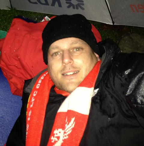 FUNDRAISER: Nick Everitt raised money for charity by sleeping rough in London for a night.