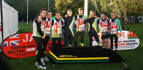 JAM-AICAN BOBSLEIGH TEAM: Runners with their a bobsleigh.