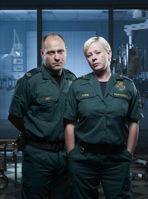 ON FULL ALERT: Paramedics Jeff and Dixie alias Matt Bardock and Jane Hazlegrove.
