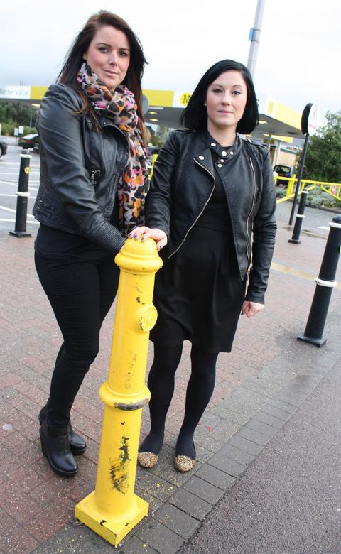 BOLLARD: The object that makes Sarah and Laura see red.
