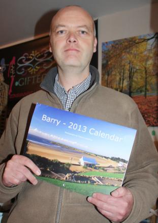 BARRY ICON: Callum's Barry calendar is navigating the Globe.