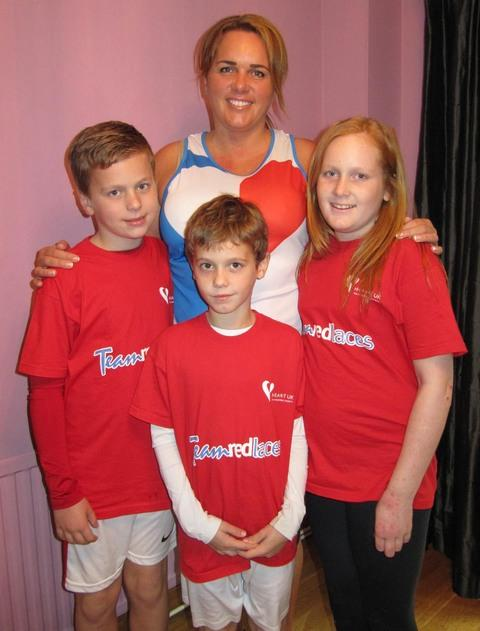 FAMILY SUPPORT: Jessica Mort with her children (from left) Tom, Will and Grace.
