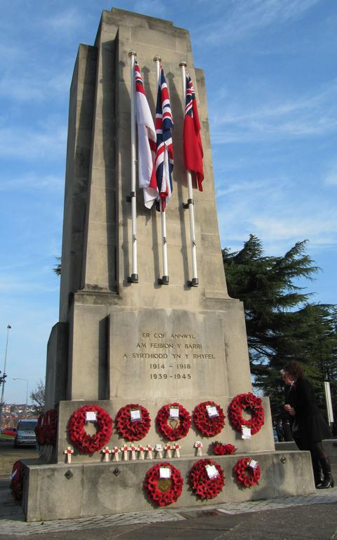 Last year's Remembrance Day Parade and wreath-laying in Barry.