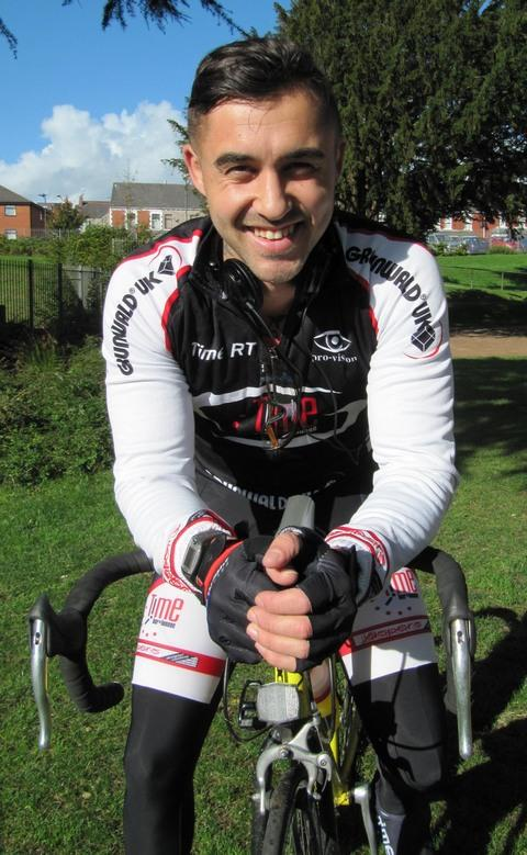 CYCLIST: Jordan Harrison will cycle 210 miles in aid of two-year-old Niamh Tarran