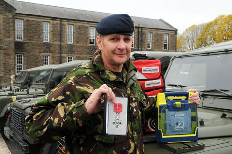 MEDAL: Captain Glenn Hall has been awarded the MBE for services to the army and his role as a Welsh Ambulance Service Community First Responder.