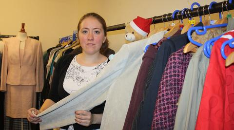 OUR STORECUPBOARD IS ALMOST BARE: Natalie Bolan is hoping Christmas will arrive early for Tenovus.