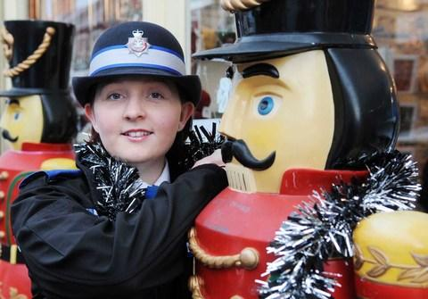 VISIBLE PRESENCE: New PCSO Samantha Jones has been given the responsibility of organising the Christmas operation in High Street, helping to ensure a safe and happy Christmas.