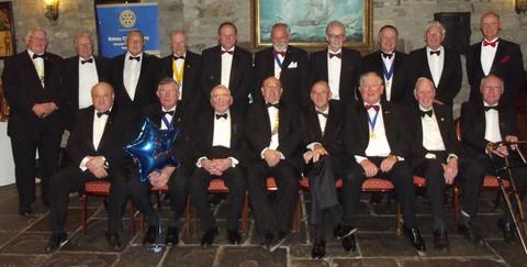 CELEBRATION: The members of Barry Rotary Club.