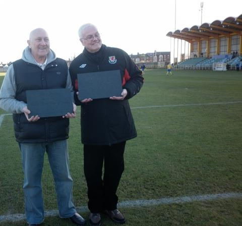 Clive Ayres and Malcolm Tapscott with awards.