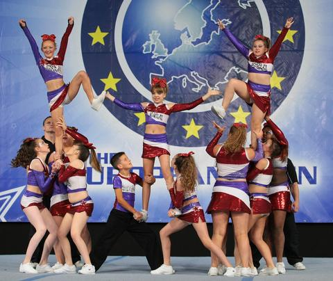 CHEERLEADING: Cardiff Cougars All-Stars competed in the European Open Cheerleading Championship.