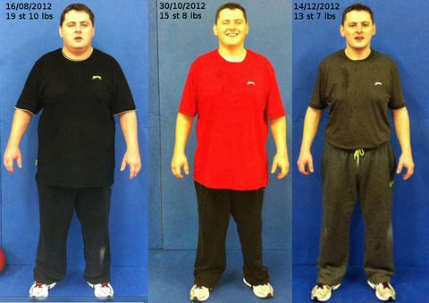 PROGRESSION: Jeremy White has lost over seven stone since August.
