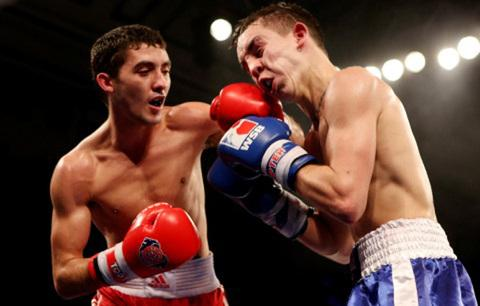 WINNER: Andrew Selby (left) defeated Michael Conlan in an unanimous points decision Picture: Scott Heavey/Getty Images.