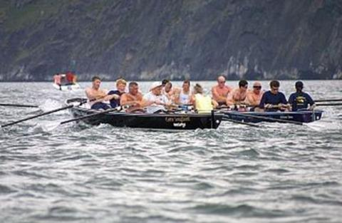 ON THE WATER: Sea rowing boats.