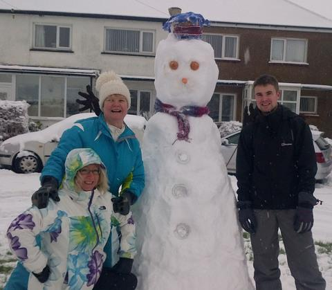 RESIDENTS of Dyffryn Place, Barry, welcomed a new neighbour on Friday (January 18)! Picture: Rowena Hughes.