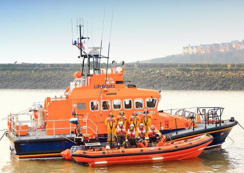 Members of Barry and Penarth RNLI crews