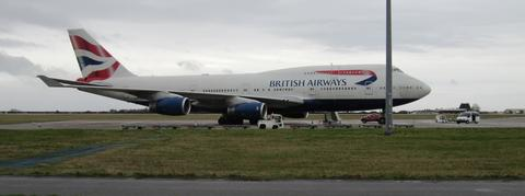 SAFE LANDING: Nobody was injured when the Boeing 747 landed at Cardiff Airport.