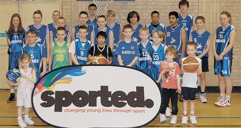 SPORTED GRANT: Juniors at the Barry Huskies Basketball Club have a grant for new basketballs and fitness equipment