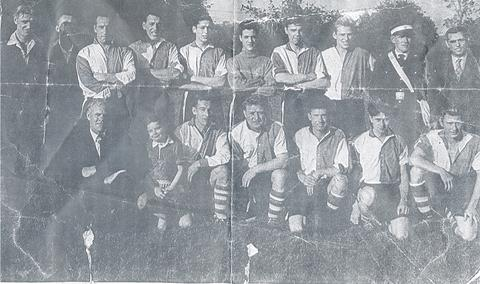 TEAM: East End Progressive FC, taken in the early 50s(?).