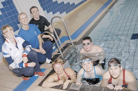 Paralympic swimmer Rhiannon Henry, coach Ragan Hagalstein and the Vale of Glamorgan's Disability Sport Wales development officer joined talented local swimmers for the launch of the Vale Disability Swimming Academy.