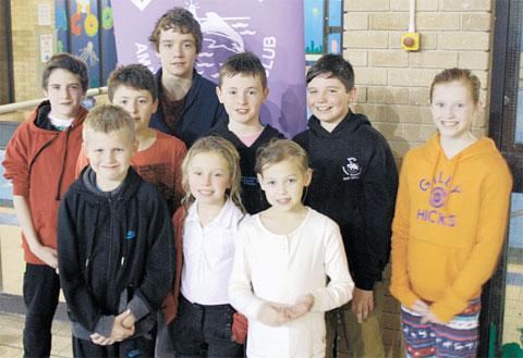 LONG SWIMS: More than half of the young members of the Barry Amateur Swimming Club took part in the annual Long Distance Post Swim run