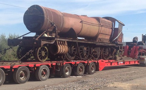 LOCOMOTIVE: The last scrap steam locomotive left Barry on Monday (May 6) (Photo: Kathryn Kemp)
