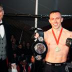 Barry And District News: Richard Buskin after winning the lightweight UFW champion belt