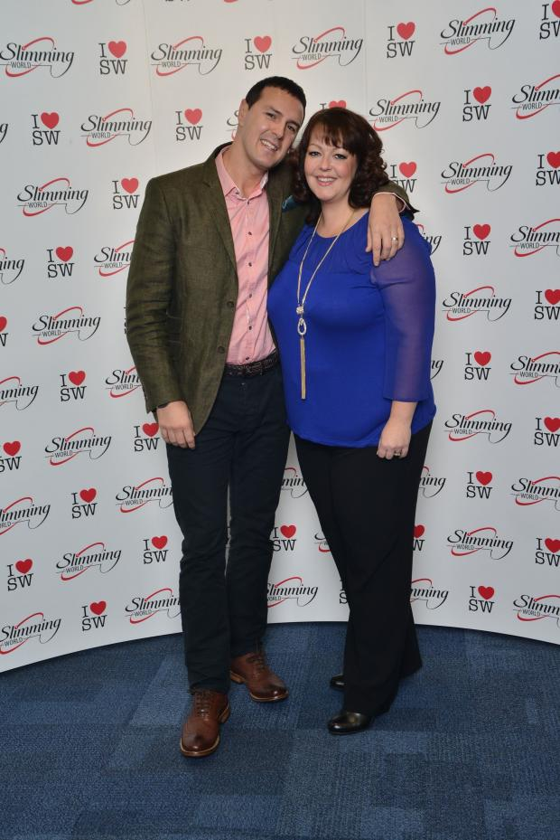 Barry And District News: MEETING: Slimming World consultant Annamarie Vincent meets comedian and TV presenter Paddy McGuinness